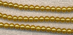 4mm Glass Pearl Round Bead Strand, GOLDEN YELLOW