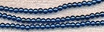 4mm Glass Pearl Round Bead Strand, SAPPHIRE BLUE