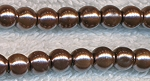 4mm GOLDEN BROWN Glass Pearl Round Bead Strand