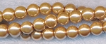 8mm Glass Pearl Round Bead Strand, GOLDEN TAUPE