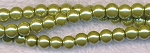 4mm Glass Pearl Round Bead Strand, LIGHT OLIVE GREEN