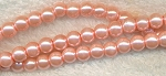 4mm Glass Pearl Round Bead Strand, CAMEO PINK