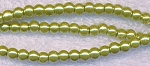 4mm Glass Pearl Round Bead Strand, GOLDEN CHARTREUSE