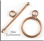 Copper Toggle Clasps