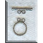 2-Strand Toggle Clasps 12mm Round Twist Double Strand Toggles Bulk (20)