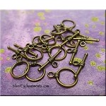 Simple Wrap Round Toggle Clasps, Antique Brass Bulk (10)