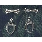 Sterling Silver Ornate Victorian Toggle Clasp