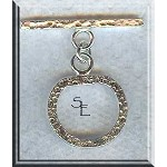 Sterling Silver Toggle Clasp, Hammered Precious Metal Jewelry Clasps (1)