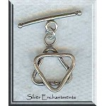 Sterling Silver Star of David Toggle Clasp