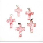 Cherry Quartz Cross Pendant, Bailed Cross Pendants (1)